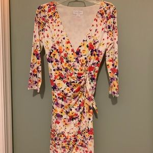 Jessica Simpson fitted floral dress